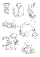 Animal Sketches by aberry89