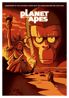 Planet of the Apes by inkjava