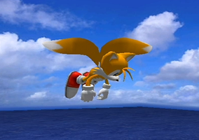 Tails Flying Over the Ocean by WhiteBlade-the-Zero