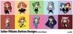 Sailor Moon Villain Chibis by KoriMichele