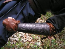 Elven armour arms detail by Bear-Crafter