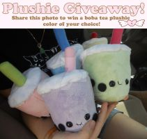 Boba Tea Plushie Giveaway by Love-Who