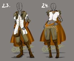 Full Clothing Design 23 and 24 [CLOSED] by JxW-SpiralofChaos
