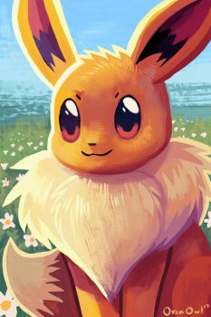 Eevee by OrcaOwl