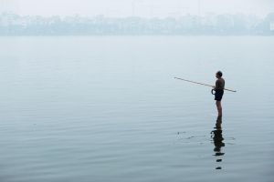 West Lake Fisherman by drifterManifesto