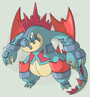 #160 (Mega) Feraligatr by RaiZhuW-The-Real