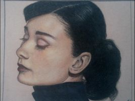 Audrey Hepburn: Prismacolor by oolonculluphid