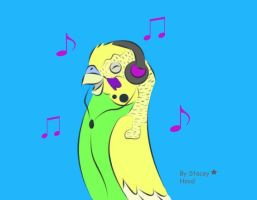Buddy loves music by oOstaceyOo