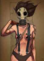 gas mask by salamandersoup