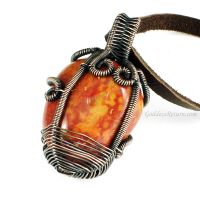 Reversible Copper and Red Jasper Necklace by Gailavira
