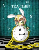 Tea Party: White Rabbit by AskFlyingMintBunneh