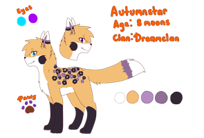 Autumnstar Ref Sheet Updated by FreckledArtist
