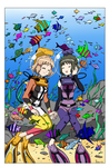 Hibiki and Miku's Diving Date - Color Commission by The-Sakura-Samurai