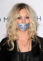 Kaley Cuoco taped by ikell