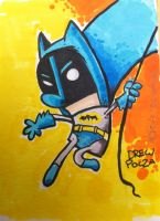 Bat Man sketch card by pocza