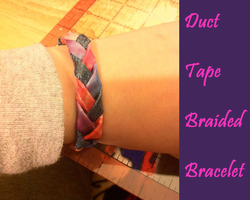 Duct Tape Braided Bracelet by GuardianKrayla