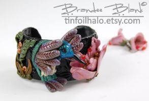 Hummingbird Cuff Bracelet by TinfoilHalo
