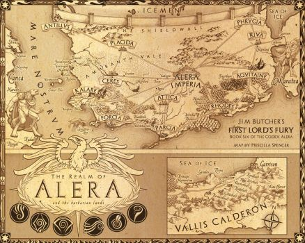 Codex Alera Map by priscellie