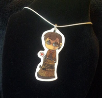 10th Doctor and Dalek Necklace by Busoni