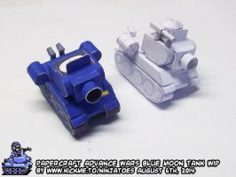 Papercraft Advance Wars Blue Moon Tank WIP4 by ninjatoespapercraft