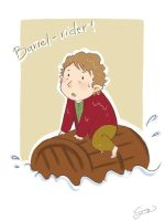 Bilbo: I am Barrel-rider! by GorryBear