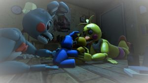 Toy Bonnie X Toy Chica by ColinShooter