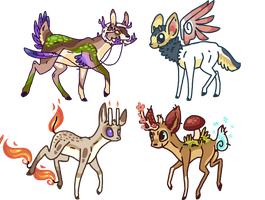 Deer Designs 8D by Shroommu