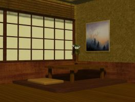 3d Background - Asian room by Sheona-Stock