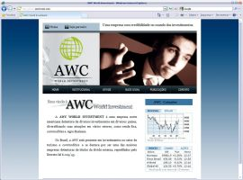 Site da AWC Invest by mediatom
