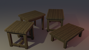 Low poly tables by lithium-sound
