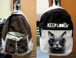 Recycled DIY2 Cat Bag by ffdiaries958