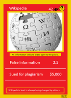 Wikipedia card by Rthecreator