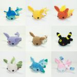 Chibi Eeveelutions by Heartstringcrochet