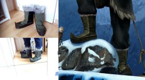 Kristoff (Frozen) cosplay shoes by ChiruNoCosplay