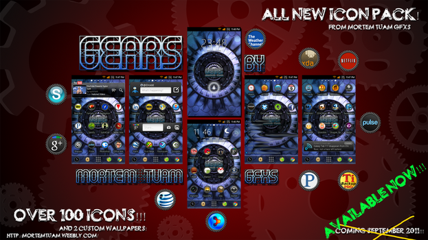 Android Icon Set GEARS by iDroidd
