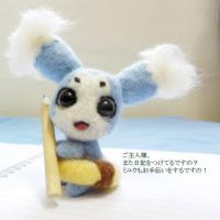 [Needle Felting] Tales of The Abyss - Mieu by spring-yuki