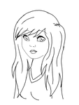 LineART: Emo-girl by Dryad-chan