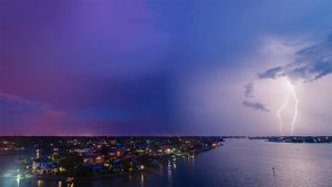 Lightning VII - Belleair Beach Panorama by Somewhere1Belong