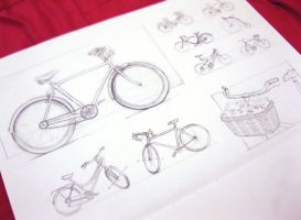 Sketchbook bicycles by sjea