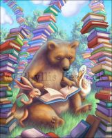 In The Book Forest by Red-Clover