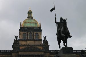 National museum and Wencesla statue Prague by AS142