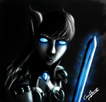 Draenei Death Knight by Coco-flame