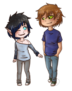 Tyler and Maurice by SkyLandWarrior