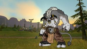 Tauren in Bloodhoof Village by Vailwolf