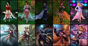 The Sims 3: League of Legends - Ahri (All Skins) by Tx-Slade-xT