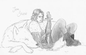 jon snow and ghost by giadina96