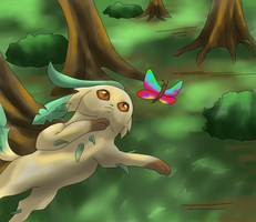 Speedpaint Pic Leafeon by Jellywolf25
