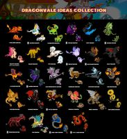 My Collection of Dragonvale Dragon Ideas by lalafox456