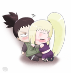 Naruto+Couples+Chibis:ShikaIno by The-PirateQueen
