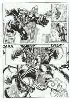 Venom comic-book page 1 by GabrieleDerosasArt